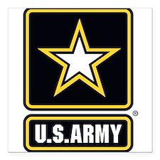 "U.S. Army Gold Star Logo Square Car Magnet 3"" x 3"""