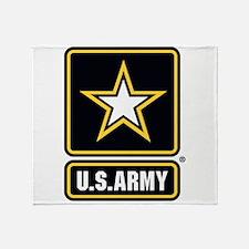 U.S. Army Gold Star Logo Throw Blanket