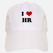 I Love HR Baseball Baseball Cap