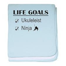 Ukuleleist Ninja Life Goals baby blanket