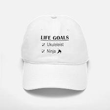 Ukuleleist Ninja Life Goals Baseball Baseball Cap