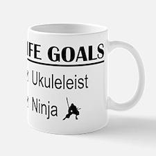 Ukuleleist Ninja Life Goals Mug