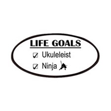 Ukuleleist Ninja Life Goals Patches