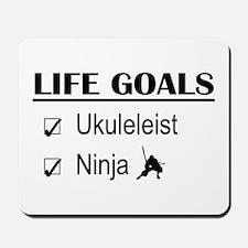Ukuleleist Ninja Life Goals Mousepad