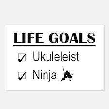 Ukuleleist Ninja Life Goa Postcards (Package of 8)