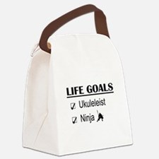 Ukuleleist Ninja Life Goals Canvas Lunch Bag