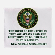 The Right Thing To Do Quote Throw Blanket