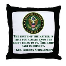 The Right Thing To Do Quote Throw Pillow