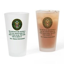 The Right Thing To Do Quote Drinking Glass