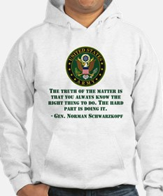 The Right Thing To Do Quote Hoodie