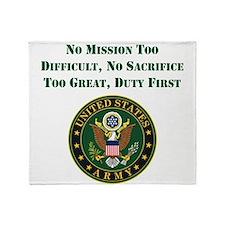 Duty First Army Saying Throw Blanket