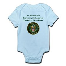 Duty First Army Saying Body Suit