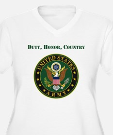 Duty Honor Country Army Plus Size T-Shirt