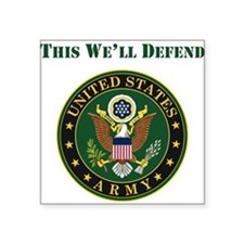 This Well Defend Army Sticker