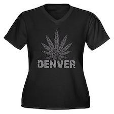 Denver Dark Women's Plus Size V-Neck Dark T-Shirt
