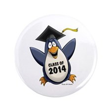 "Class of 2014 Penguin 3.5"" Button (100 pack)"