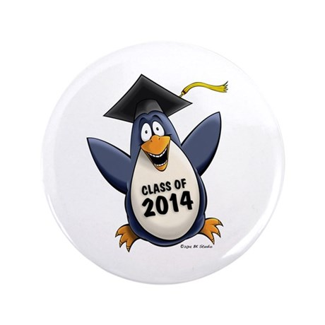 """Class of 2014 Penguin 3.5"""" Button (100 pack)"""