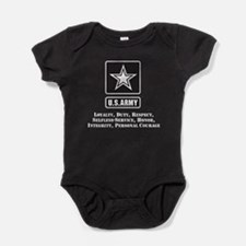 U.S. Army Values Baby Bodysuit