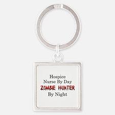 Hospice Nurse/Zombie Hunter Square Keychain