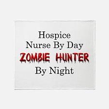 Hospice Nurse/Zombie Hunter Throw Blanket