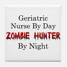 Geriatric Nurse/Zombie Hunter Tile Coaster