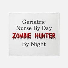 Geriatric Nurse/Zombie Hunter Throw Blanket