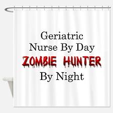 Geriatric Nurse/Zombie Hunter Shower Curtain