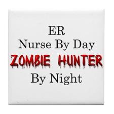 ER Nurse/Zombie Hunter Tile Coaster