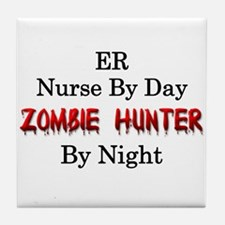 ER Nurse/Zombie Hunter Tile Coaster