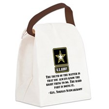 The Right Thing To Do Quote Canvas Lunch Bag