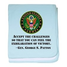 The Exhilaration Of Victory Quote baby blanket