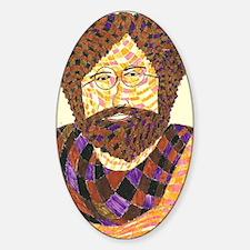 jerry garcia Sticker (Oval)