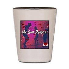 reigns really pink Shot Glass