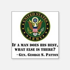 If A Man Does His Best Quote Sticker