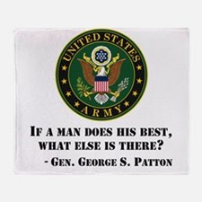 If A Man Does His Best Quote Throw Blanket