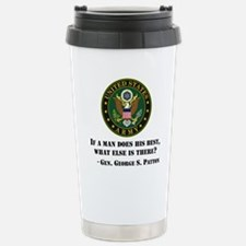 If A Man Does His Best Quote Travel Mug
