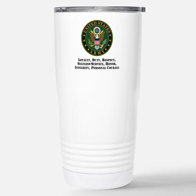 U.S. Army Values Travel Mug