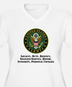 U.S. Army Values Plus Size T-Shirt