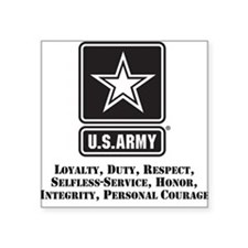 U.S. Army Values Sticker