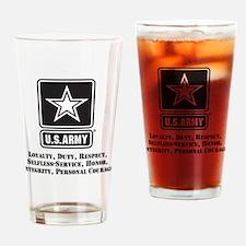 U.S. Army Values Drinking Glass