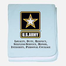 U.S. Army Values baby blanket