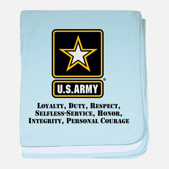 U.S. Army Values baby blanket