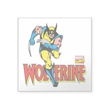 "Wolverine Running Square Sticker 3"" x 3"""