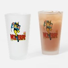 Wolverine Running Drinking Glass