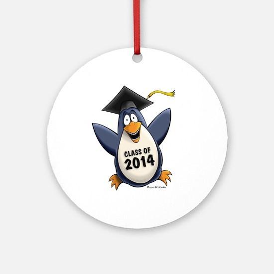 Class of 2014 Penguin Ornament (Round)