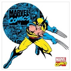Wolverine Circle Wall Art Poster
