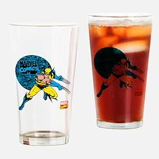 Wolverine Circle Drinking Glass