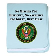 Duty First Army Saying baby blanket