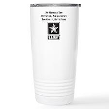 Duty First Army Saying Travel Mug