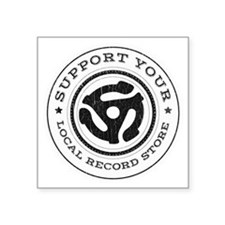 "RecordStoreReduxInvert Square Sticker 3"" x 3"""